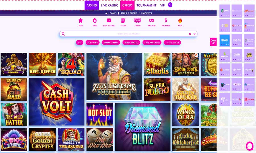 GAME PROVIDERS & SLOTS