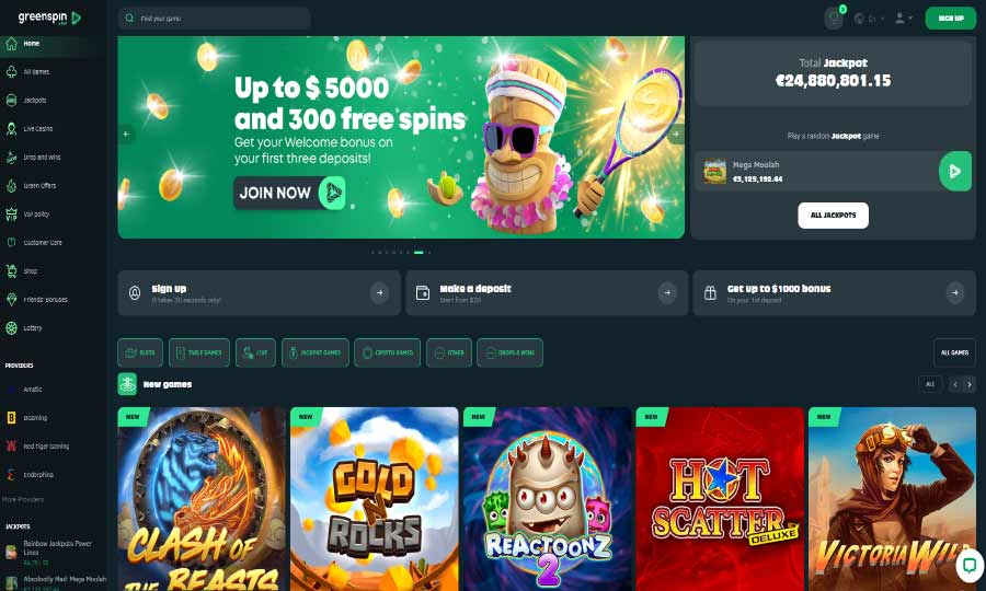 Green Spin Casino Review