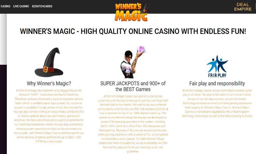 REASONS TO JOIN WINNERS MAGIC